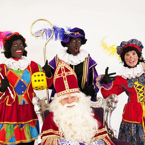 Sinterklaas Sint Zitting op werk bedrijf bedrijfsfeest