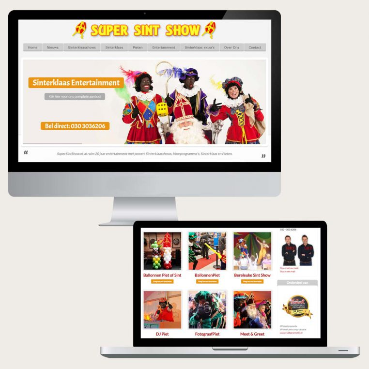 Nieuwe website SuperSintShow